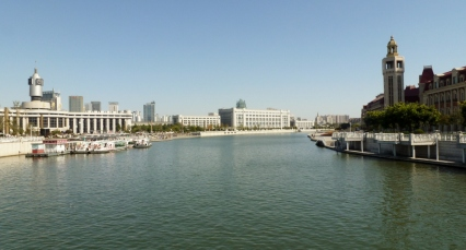 The Haihe River in Tianjin