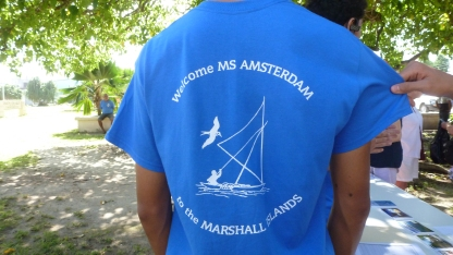 Majuro Visitors Center welcomes the MS Amsterdam