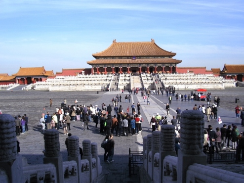 At the Forbidden City in Beijing.