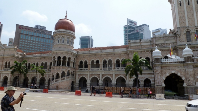 Sultan Abdul Samad Building across from Independence Square.