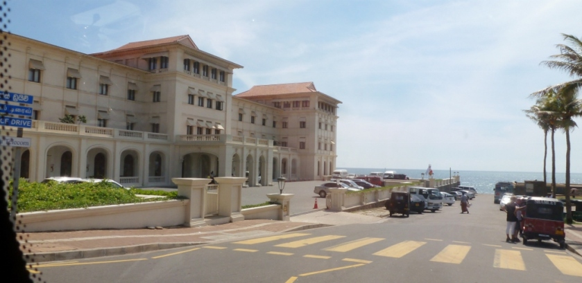 Galle Face Hotel front entrance.  Built in 1864