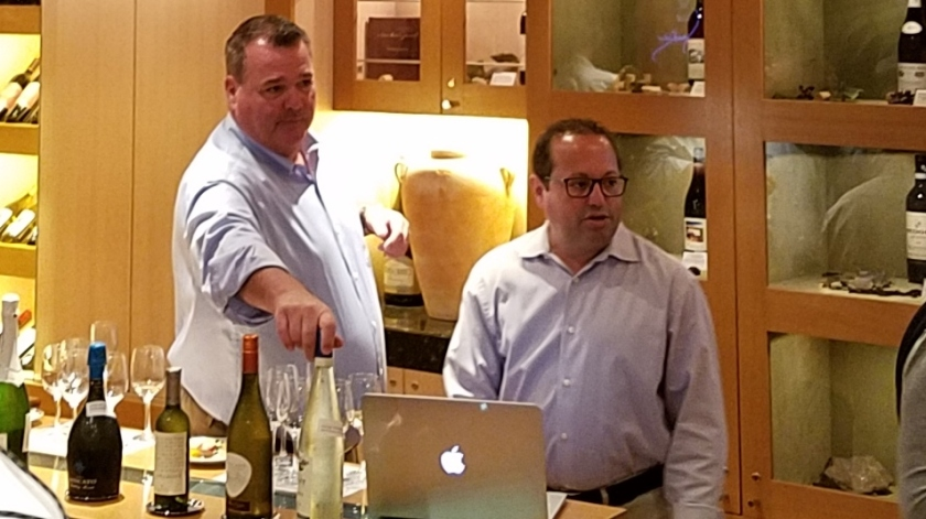 Jeff & Mike presenting the Moscato Wine Tasting