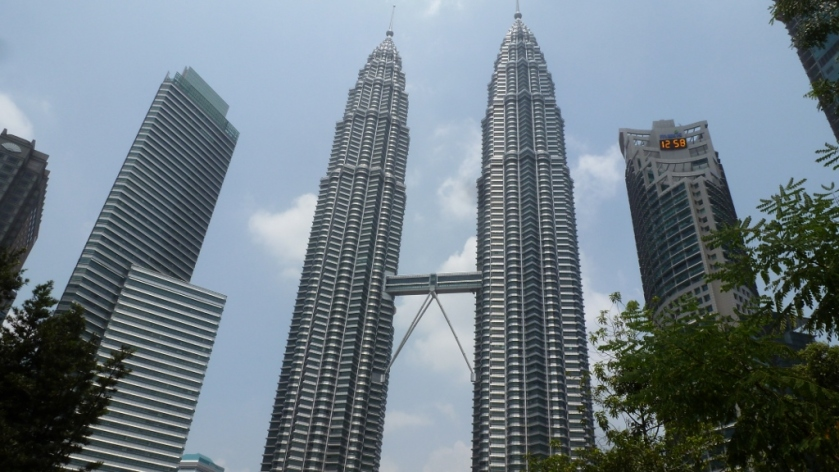 View of the Petronas Twin Towers from the Gardens.