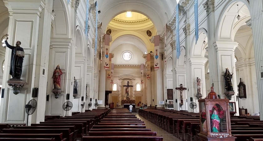 Interior of St. Lucia's Church