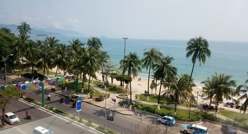 View of the beach from the Nha Trang Center