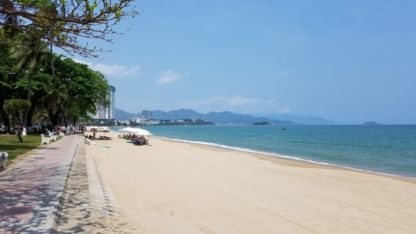 The beach in Nha Trang Center