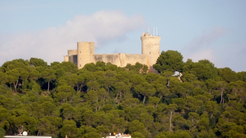 Castillo de Bellver as seen from the ship