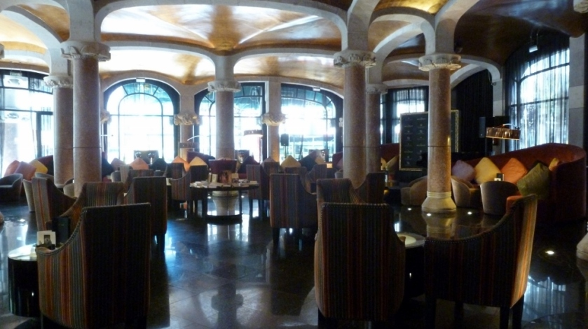 Cafe Vienes in the Case Fuster Hotel, Barcelona, Spain.
