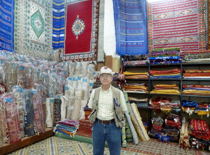 Rog in the rug section of Expositional Artisinal in central Casablanca