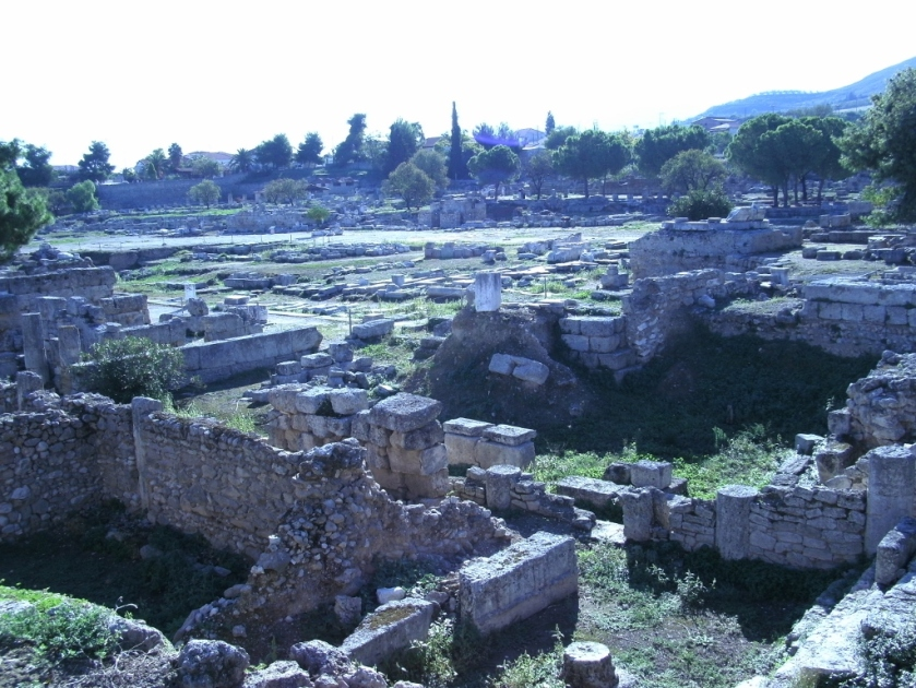 Ruins of ancient city of Corinth.