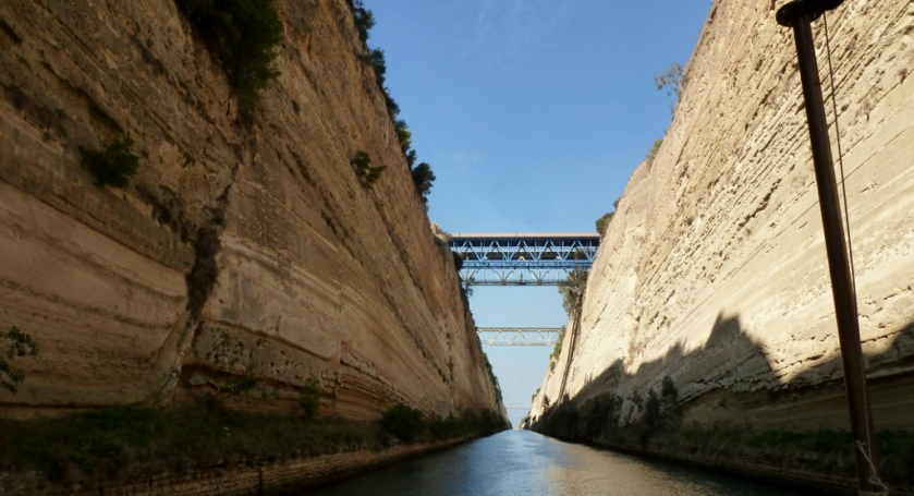In the Corinth Canal.