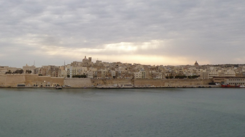 Valletta, Malta as seen from the ship.