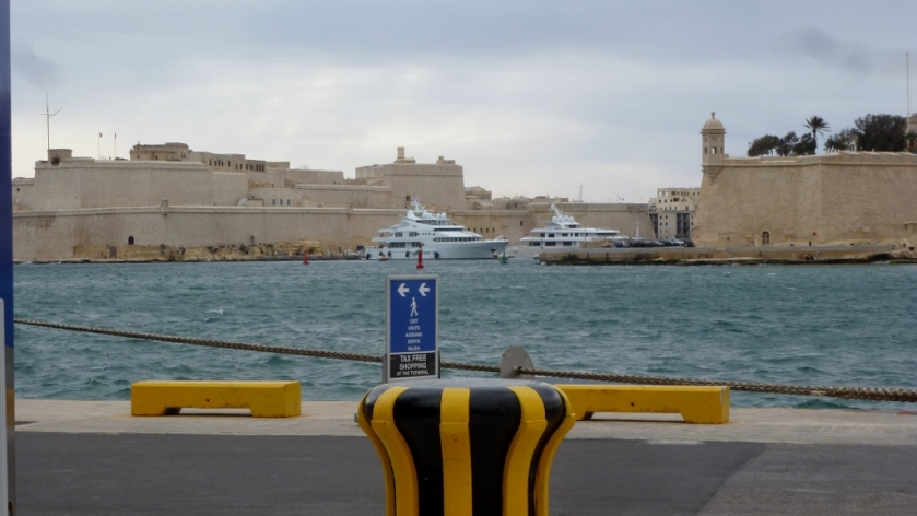 On the dock in Valletta, Malta.