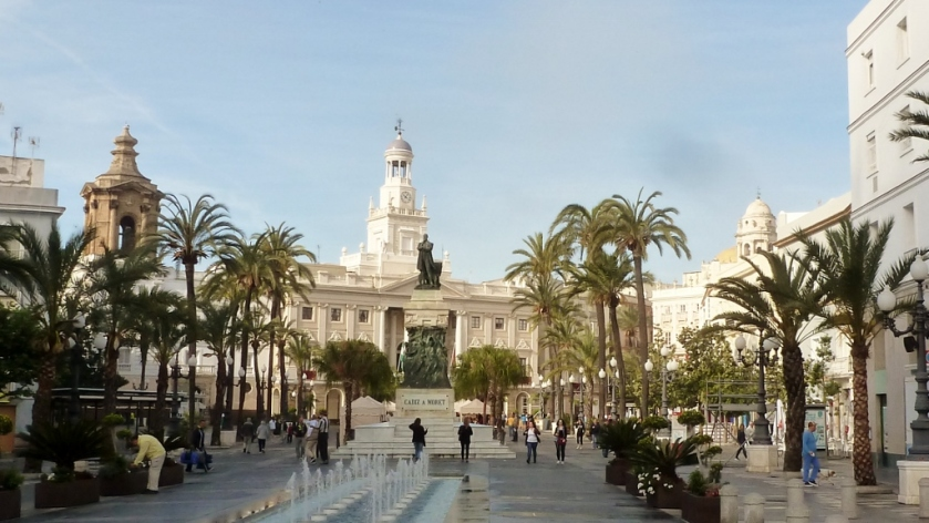 The main square in Cadiz, Spain.