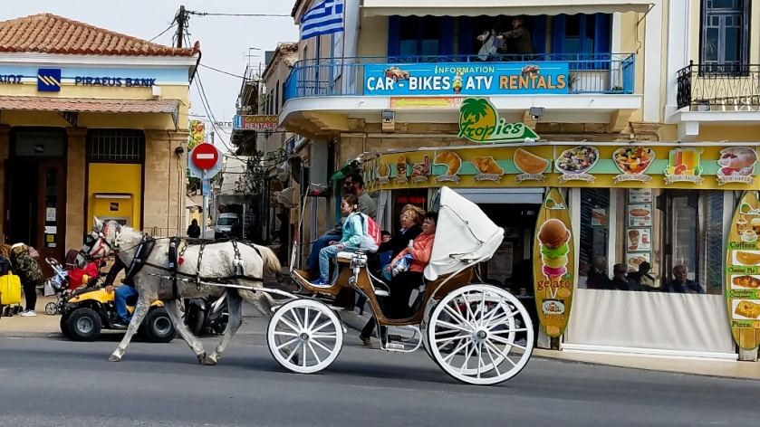 Carriage rides through Aegina town.
