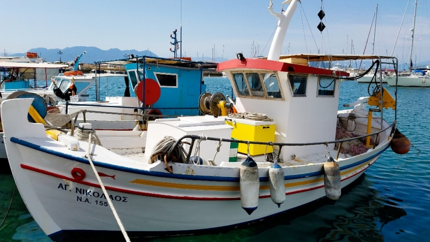 Fishing Boat in the harbor of Aegina.