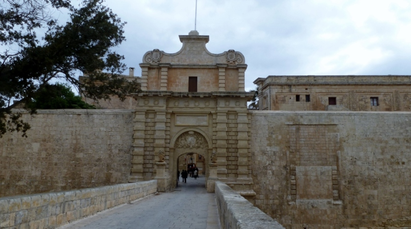 The entrance to Mdina.