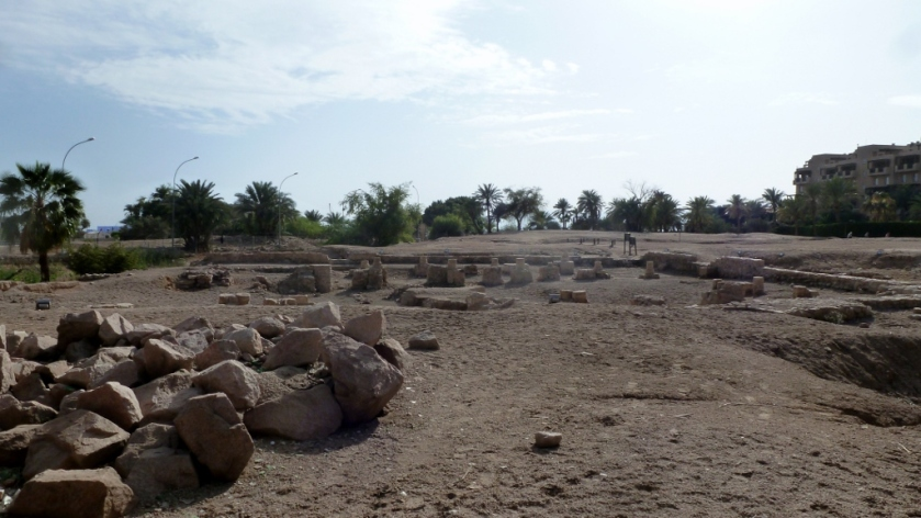 ancient city of Ayla under excavation in Aqaba, Jordan