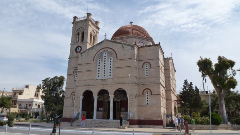 The Church in Aegina, Greece.