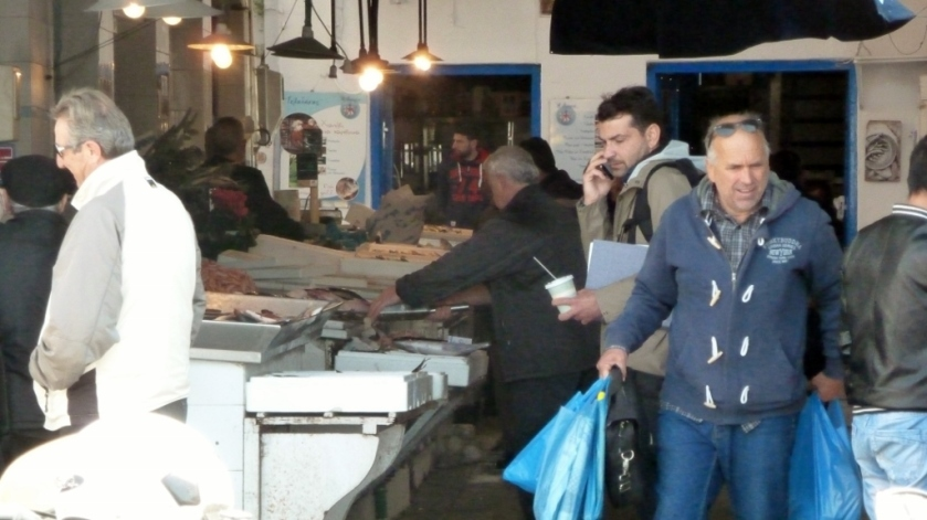 The Fish Market in Aegina.