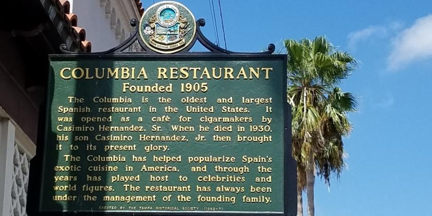 Columbia Restaurant, 1905.