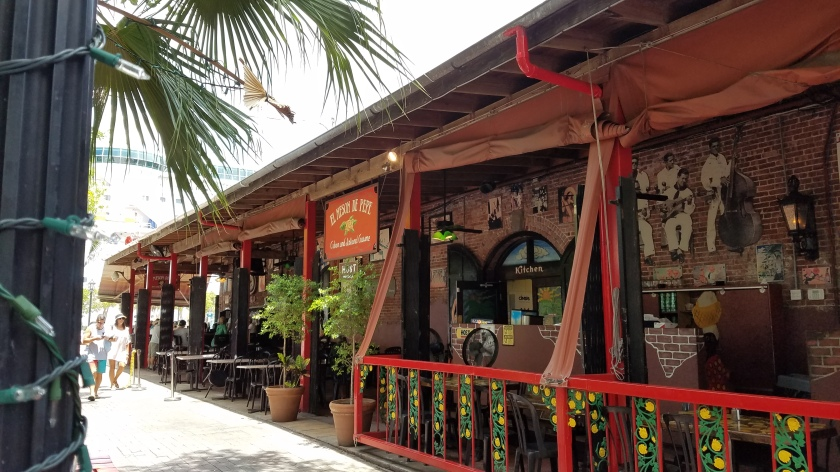 The El Meson de Pepe Cuban Restaurant on Wall Street, just off Mallory Square.