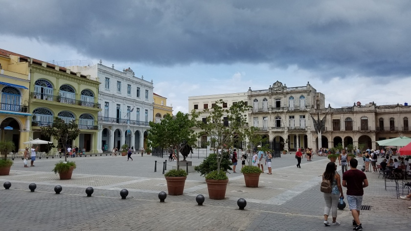 Plaza Vieja, looking North, a mostly residential square.