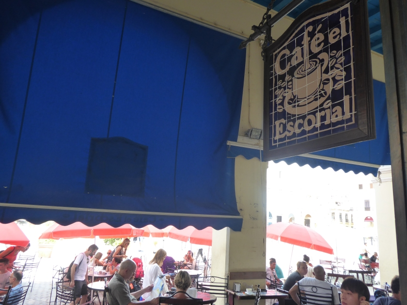 Cafe El Escorial in Plaza Vieja.