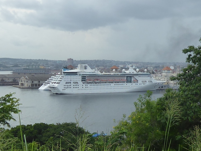 The Empress of the Seas docked in Havana, Cuba.