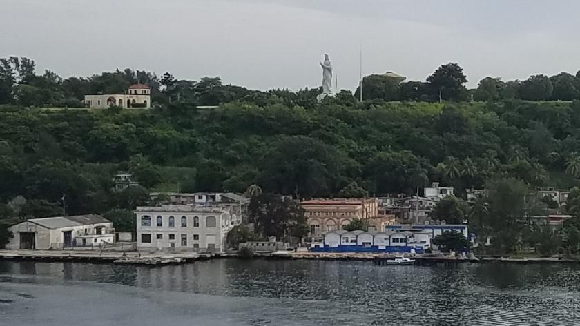 Cristo Statue of Havana overlooking Havana Harbor.
