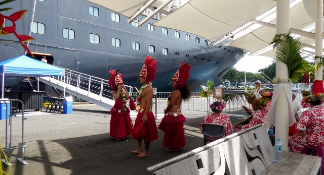 As usual, music and dance await us as we disembark in Papeete.