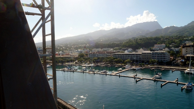 Docked in Papeete, Tahiti