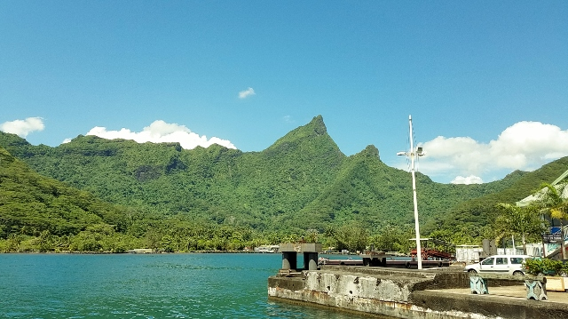 Arrival at the ferry dock in Vai'are, Moorea