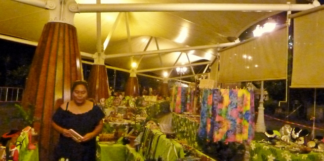 Even the market stayed open Saturday night!