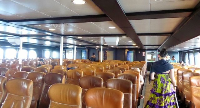 Not a crowded ferry at 9:45am.  Not much for the attendants to do.