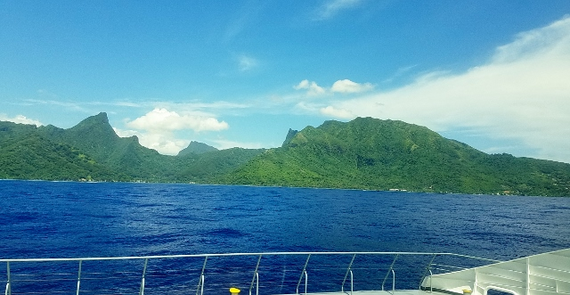 Moorea as seen from the ferry.