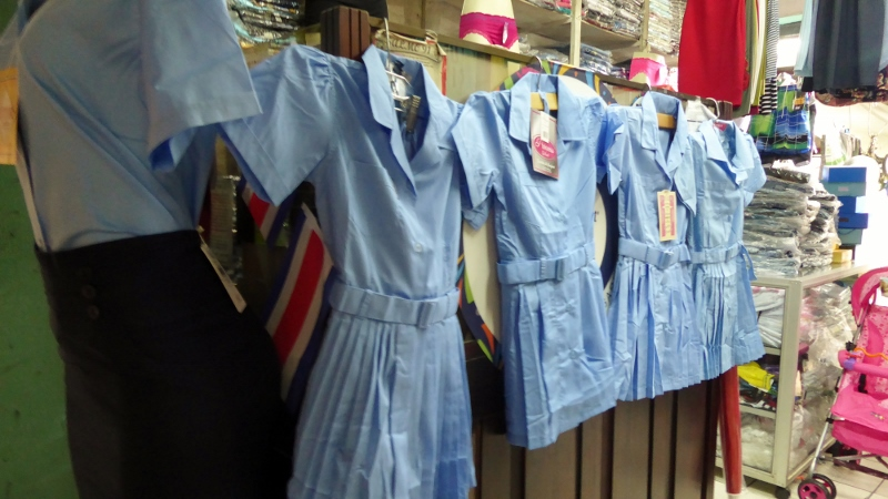 You can buy everything here.  From school uniforms.....