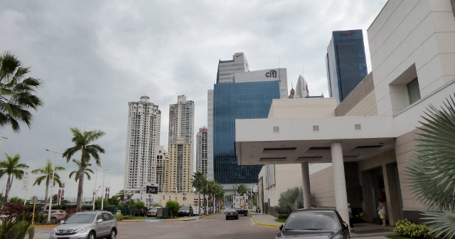 Panama City is a modern, highly populated city with lots of high-rises.
