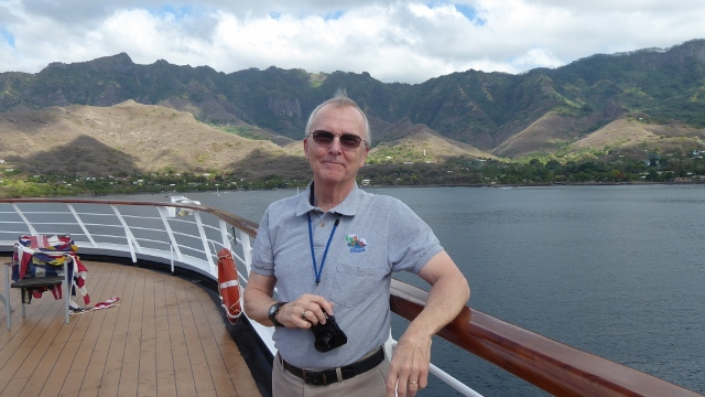 Taking photos of Taiohea from the aft deck before disembarking for the day.