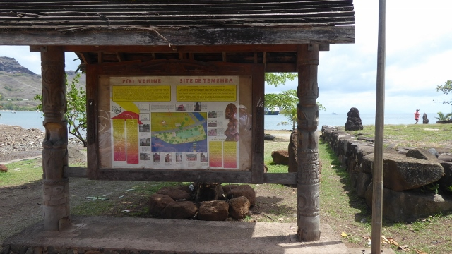 De Temehea archeological site on Taiohea, Nuku Hiva.