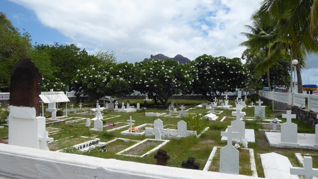 The cemetary at Taiohea, Nuku Hiva.