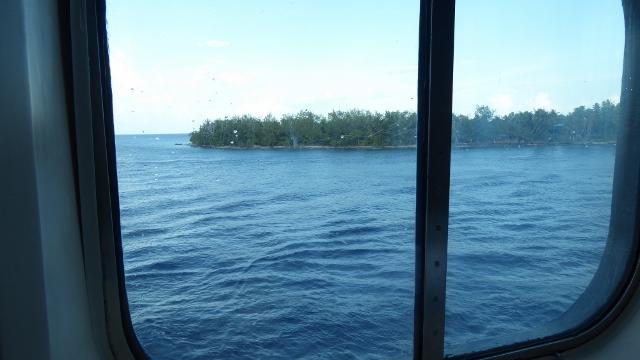 Sailing into Avatoru, Rangiroa, French Polynesia.