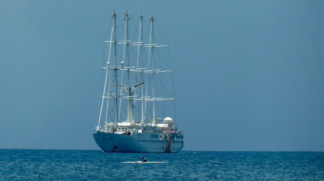 Wind Star's Wind Spirit anchored with us.