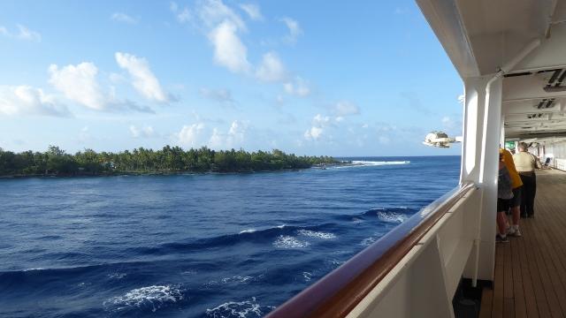 The sailaway from Rangiroa Lagoon.