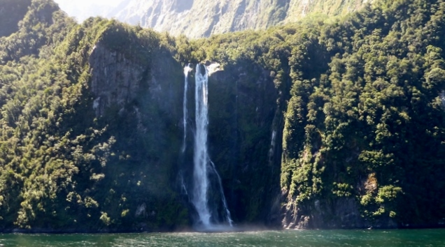 Another waterfall in Milford Sound.