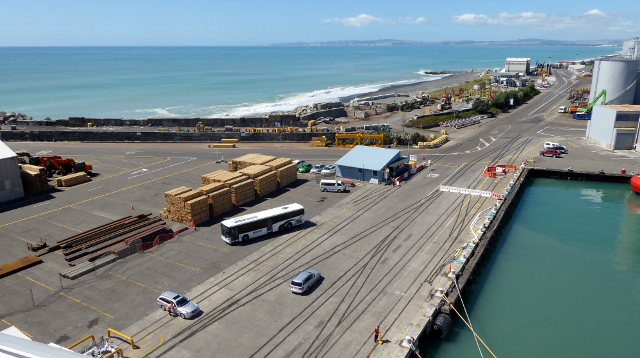 Docked in the port of Napier, Hawkes Bay, NZ