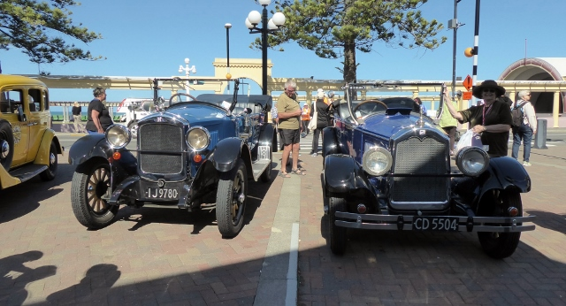 Beautiful old cars.  and they are available to hire!