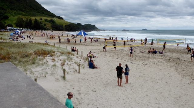 Lots of Beach Volley Ball