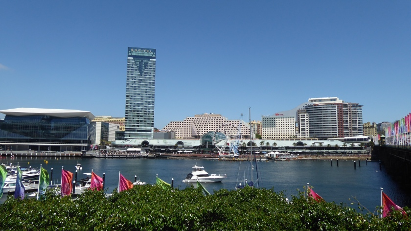 There's a big shopping complex at Darling Harbour.