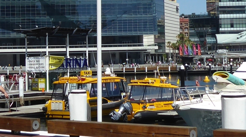 Water taxis are readily available.